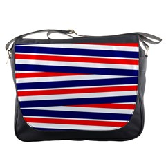 Red White Blue Patriotic Ribbons Messenger Bags