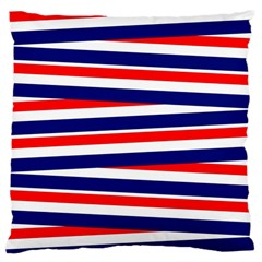 Red White Blue Patriotic Ribbons Large Cushion Case (one Side)