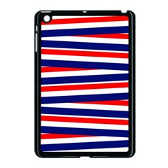 Red White Blue Patriotic Ribbons Apple Ipad Mini Case (black) by Nexatart