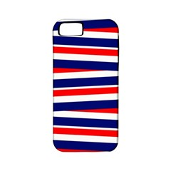 Red White Blue Patriotic Ribbons Apple Iphone 5 Classic Hardshell Case (pc+silicone)