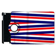 Red White Blue Patriotic Ribbons Apple Ipad 3/4 Flip 360 Case