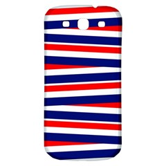 Red White Blue Patriotic Ribbons Samsung Galaxy S3 S Iii Classic Hardshell Back Case