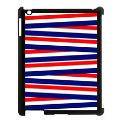Red White Blue Patriotic Ribbons Apple Ipad 3/4 Case (black)