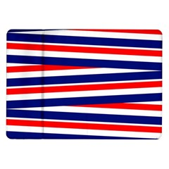 Red White Blue Patriotic Ribbons Samsung Galaxy Tab 10 1  P7500 Flip Case