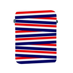 Red White Blue Patriotic Ribbons Apple Ipad 2/3/4 Protective Soft Cases