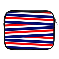 Red White Blue Patriotic Ribbons Apple Ipad 2/3/4 Zipper Cases