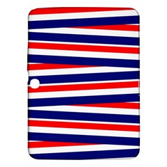Red White Blue Patriotic Ribbons Samsung Galaxy Tab 3 (10 1 ) P5200 Hardshell Case