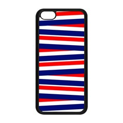 Red White Blue Patriotic Ribbons Apple Iphone 5c Seamless Case (black) by Nexatart