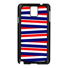 Red White Blue Patriotic Ribbons Samsung Galaxy Note 3 N9005 Case (black)