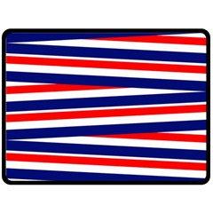 Red White Blue Patriotic Ribbons Double Sided Fleece Blanket (large)