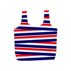 Red White Blue Patriotic Ribbons Full Print Recycle Bags (s)