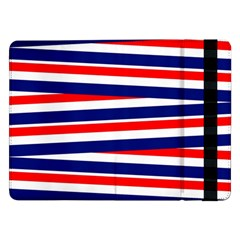Red White Blue Patriotic Ribbons Samsung Galaxy Tab Pro 12 2  Flip Case