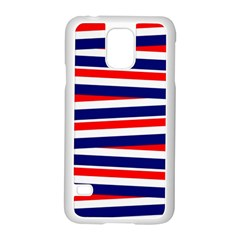 Red White Blue Patriotic Ribbons Samsung Galaxy S5 Case (white)