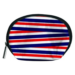 Red White Blue Patriotic Ribbons Accessory Pouches (medium)
