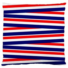 Red White Blue Patriotic Ribbons Standard Flano Cushion Case (two Sides)