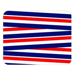 Red White Blue Patriotic Ribbons Double Sided Flano Blanket (large)