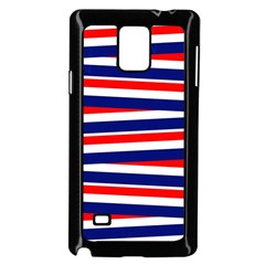Red White Blue Patriotic Ribbons Samsung Galaxy Note 4 Case (black)