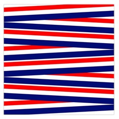 Red White Blue Patriotic Ribbons Large Satin Scarf (square)