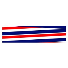 Red White Blue Patriotic Ribbons Satin Scarf (oblong)