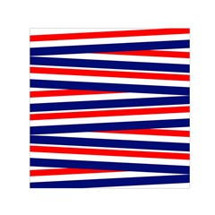 Red White Blue Patriotic Ribbons Small Satin Scarf (square)