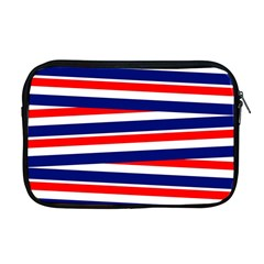 Red White Blue Patriotic Ribbons Apple Macbook Pro 17  Zipper Case by Nexatart