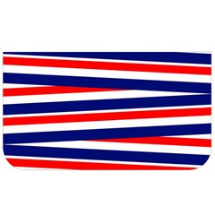 Red White Blue Patriotic Ribbons Lunch Bag by Nexatart