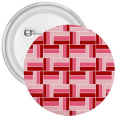 Pink Red Burgundy Pattern Stripes 3  Buttons