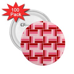 Pink Red Burgundy Pattern Stripes 2 25  Buttons (100 Pack)