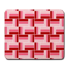 Pink Red Burgundy Pattern Stripes Large Mousepads