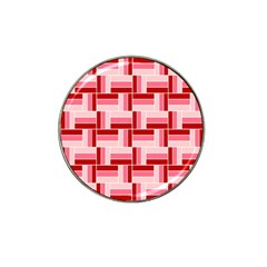 Pink Red Burgundy Pattern Stripes Hat Clip Ball Marker (10 Pack)