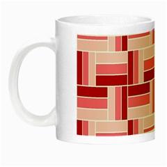 Pink Red Burgundy Pattern Stripes Night Luminous Mugs