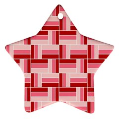 Pink Red Burgundy Pattern Stripes Star Ornament (two Sides) by Nexatart