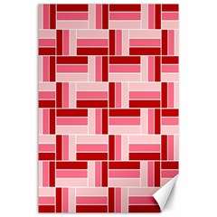 Pink Red Burgundy Pattern Stripes Canvas 24  X 36