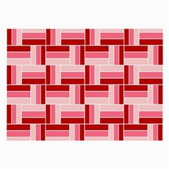 Pink Red Burgundy Pattern Stripes Large Glasses Cloth (2 Side) by Nexatart