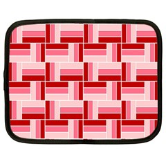 Pink Red Burgundy Pattern Stripes Netbook Case (large)