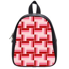 Pink Red Burgundy Pattern Stripes School Bag (small)