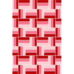Pink Red Burgundy Pattern Stripes 5 5  X 8 5  Notebooks