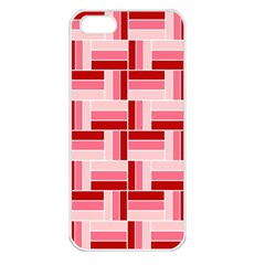 Pink Red Burgundy Pattern Stripes Apple Iphone 5 Seamless Case (white)