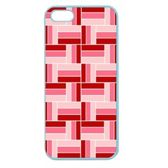 Pink Red Burgundy Pattern Stripes Apple Seamless Iphone 5 Case (color)