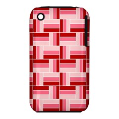 Pink Red Burgundy Pattern Stripes Iphone 3s/3gs by Nexatart