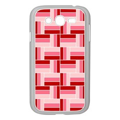 Pink Red Burgundy Pattern Stripes Samsung Galaxy Grand Duos I9082 Case (white)