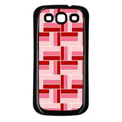 Pink Red Burgundy Pattern Stripes Samsung Galaxy S3 Back Case (black)