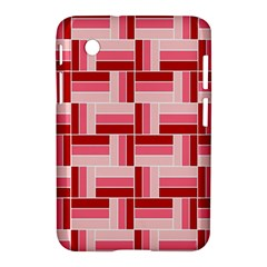 Pink Red Burgundy Pattern Stripes Samsung Galaxy Tab 2 (7 ) P3100 Hardshell Case