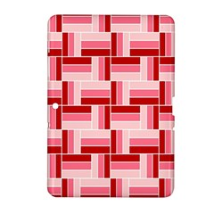 Pink Red Burgundy Pattern Stripes Samsung Galaxy Tab 2 (10 1 ) P5100 Hardshell Case  by Nexatart