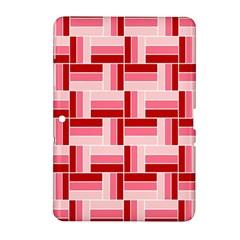 Pink Red Burgundy Pattern Stripes Samsung Galaxy Tab 2 (10 1 ) P5100 Hardshell Case