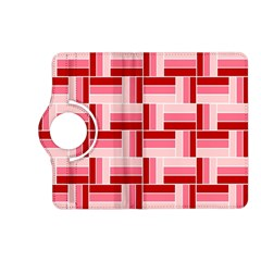 Pink Red Burgundy Pattern Stripes Kindle Fire Hd (2013) Flip 360 Case