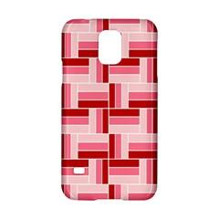 Pink Red Burgundy Pattern Stripes Samsung Galaxy S5 Hardshell Case