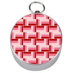 Pink Red Burgundy Pattern Stripes Silver Compasses