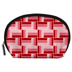 Pink Red Burgundy Pattern Stripes Accessory Pouches (large)