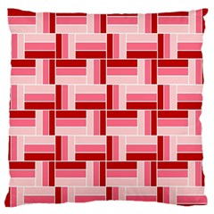 Pink Red Burgundy Pattern Stripes Large Flano Cushion Case (two Sides)